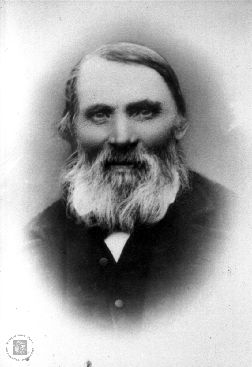 Portrett Petter Andreasson Nome 1816-1898, Øyslebø.