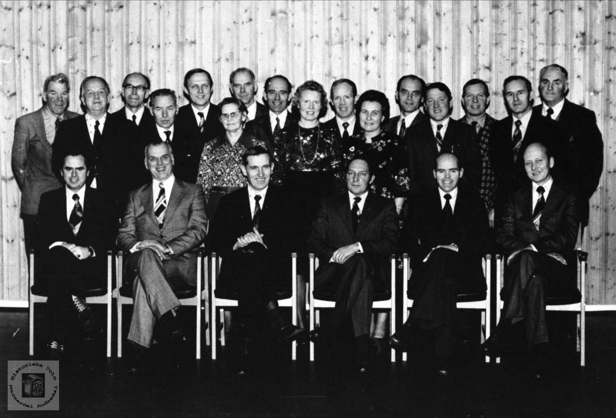 Marnardal kommunestyre 1972-1975.