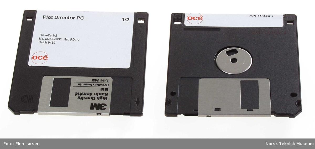 To disketter - OCE Plotter drivers og Plot Director PC
