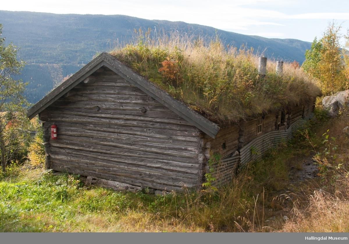 Stølshus med innåtbygd fjøs fra Turhusvollen på Habbeset.  Bua har 3 rom, fjøset har 2 rom.  Inngangsdøren går inn i kokerommet (skjølet), videre kommer en inn til bua og mjølkebua.  I andre enden er ett rom for kyrne og ett rom for diverse redskaper.  Stølsbua ble satt opp på Skaga, Gol Bygdemuseum i 1990. Huset er tømret med torv på taket.  Bua er trolig bygd omkring 1800.  Fjøset kan være påbygd noe seinere