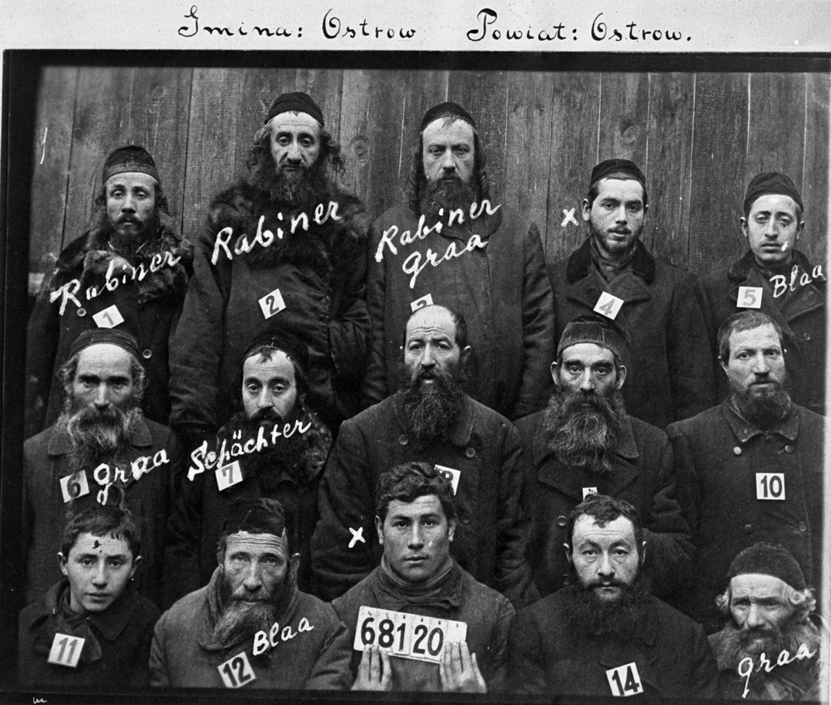 Smina: Ostrow Powiat: Ostrow (jøder - rabinere)
