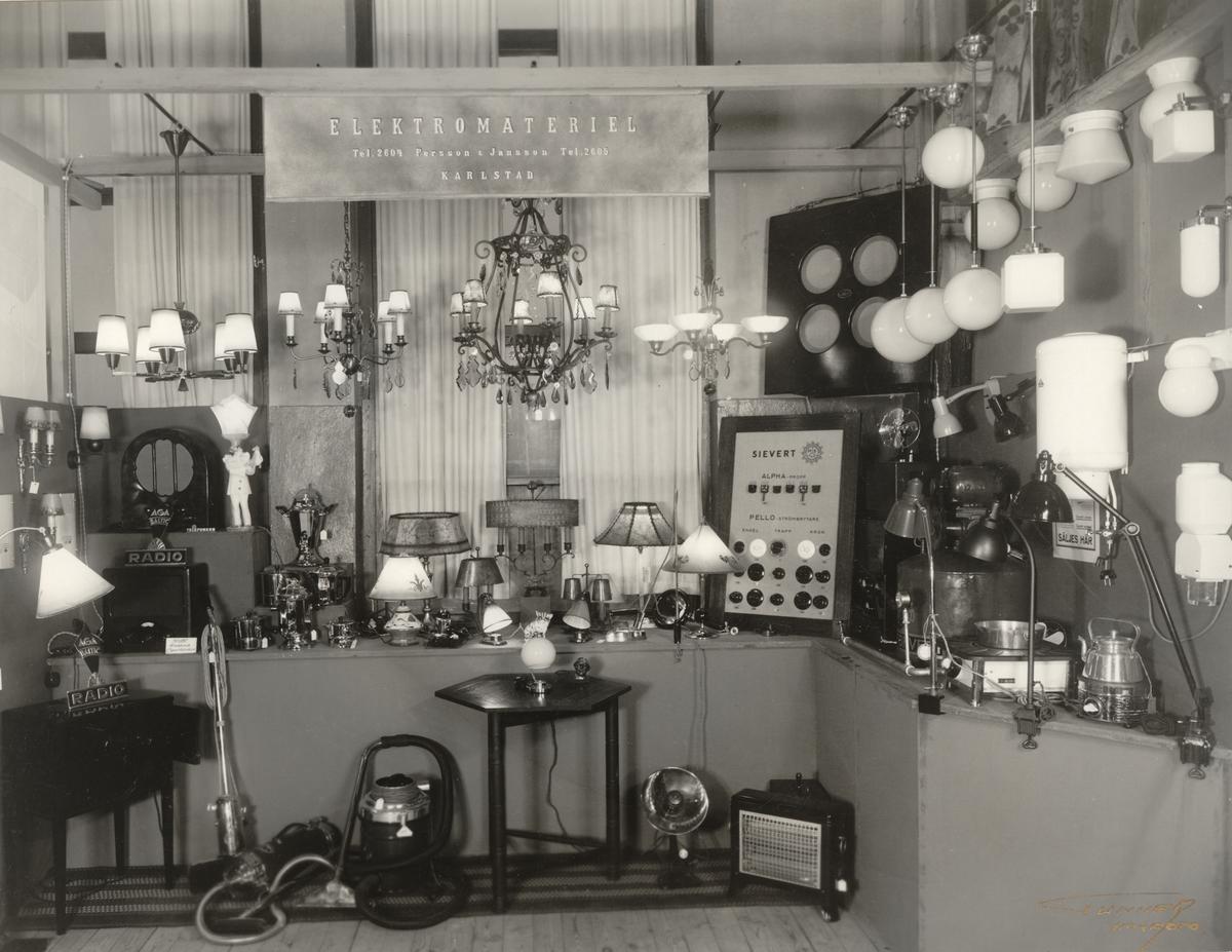Elektrisk armatur vid Bygge och Bo-utställningen i Borås 1932.