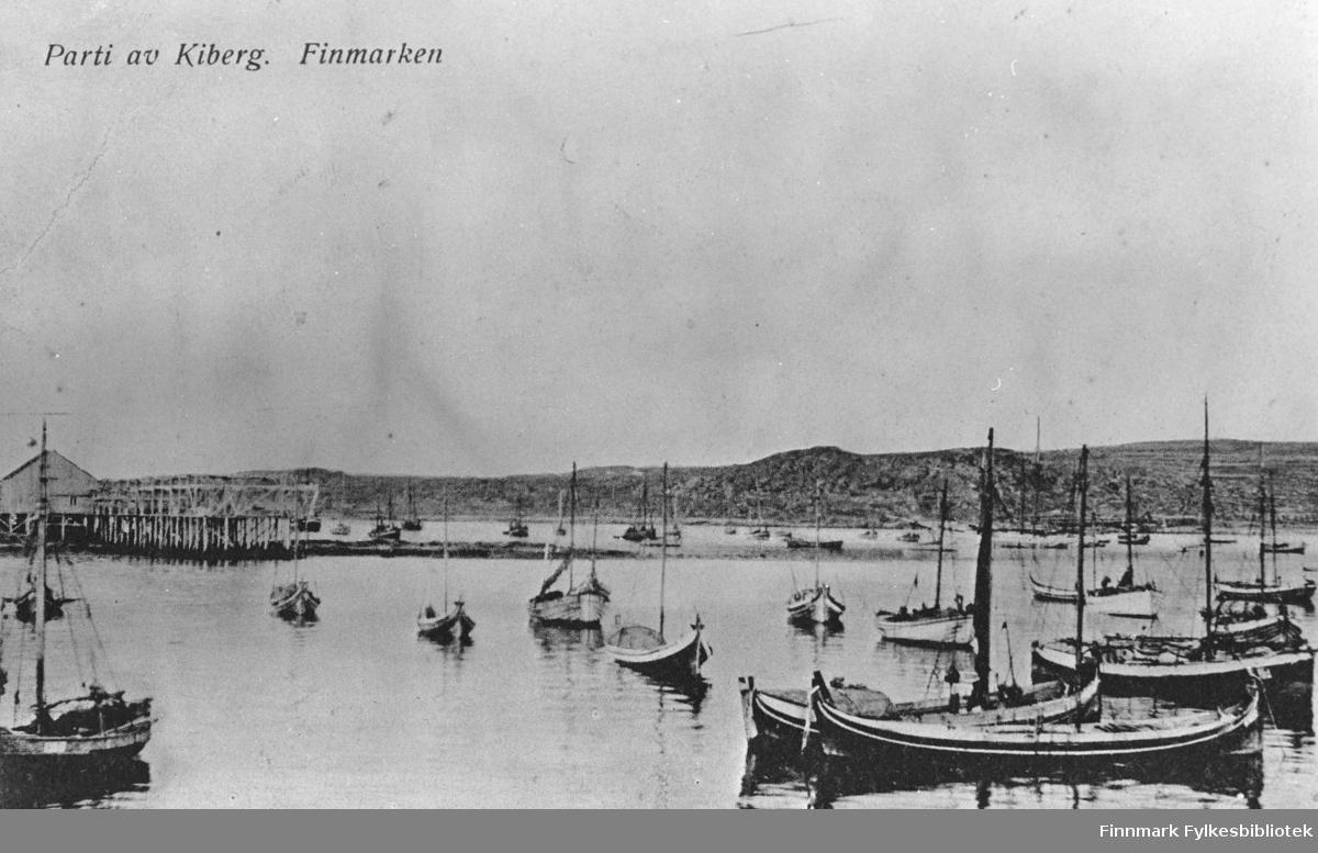 'Parti av Kiberg, Finnmarken'.  Kiberg.