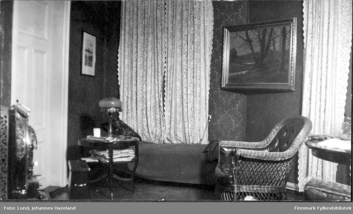Stua i familien Lunds hjem i Hammerfest