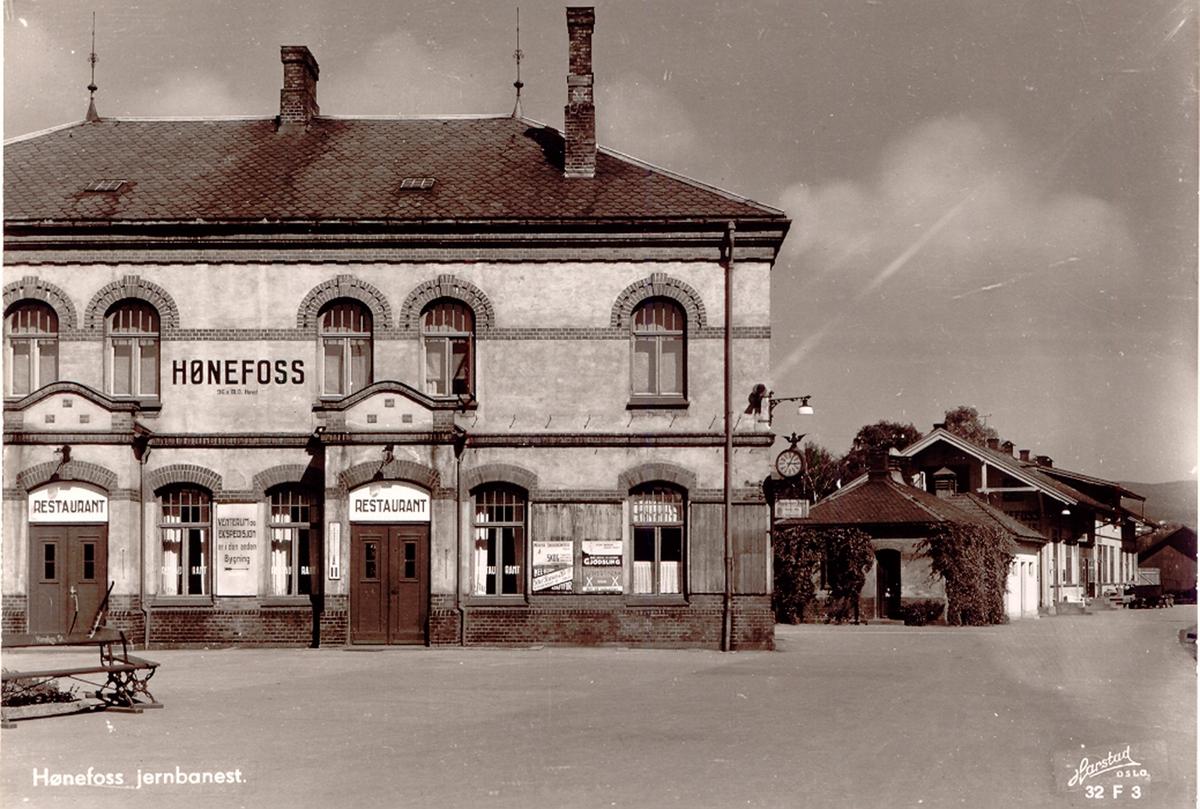 Hønefoss jernbanestasjon.