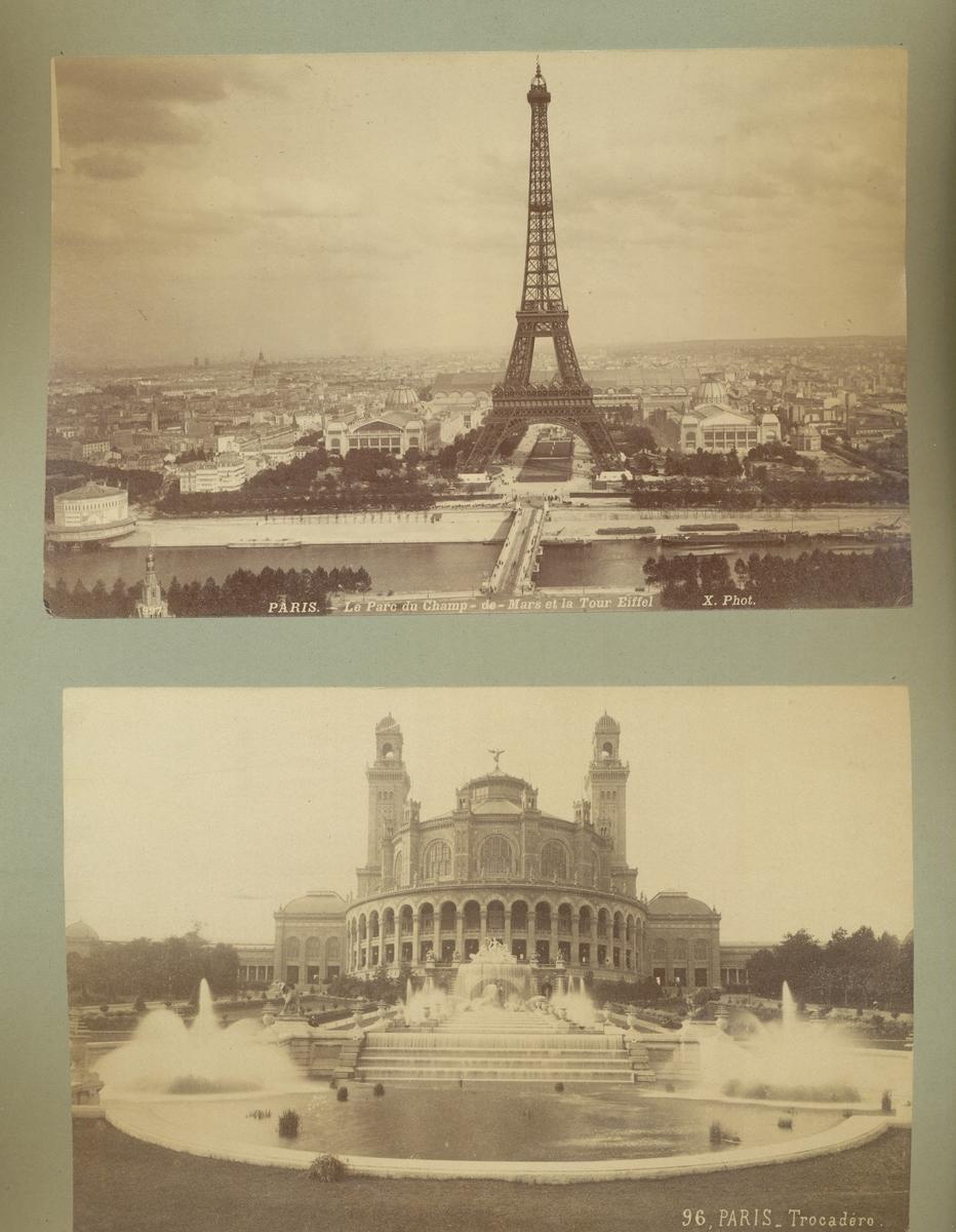 Postkort x2: Eifeltårnet, Paris / Tocadero, Paris