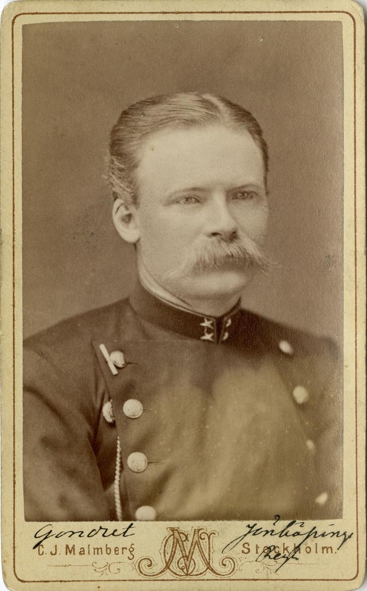Porträtt av Claes Henric Gondert, löjtnant vid Jönköpings regemente I 12.
