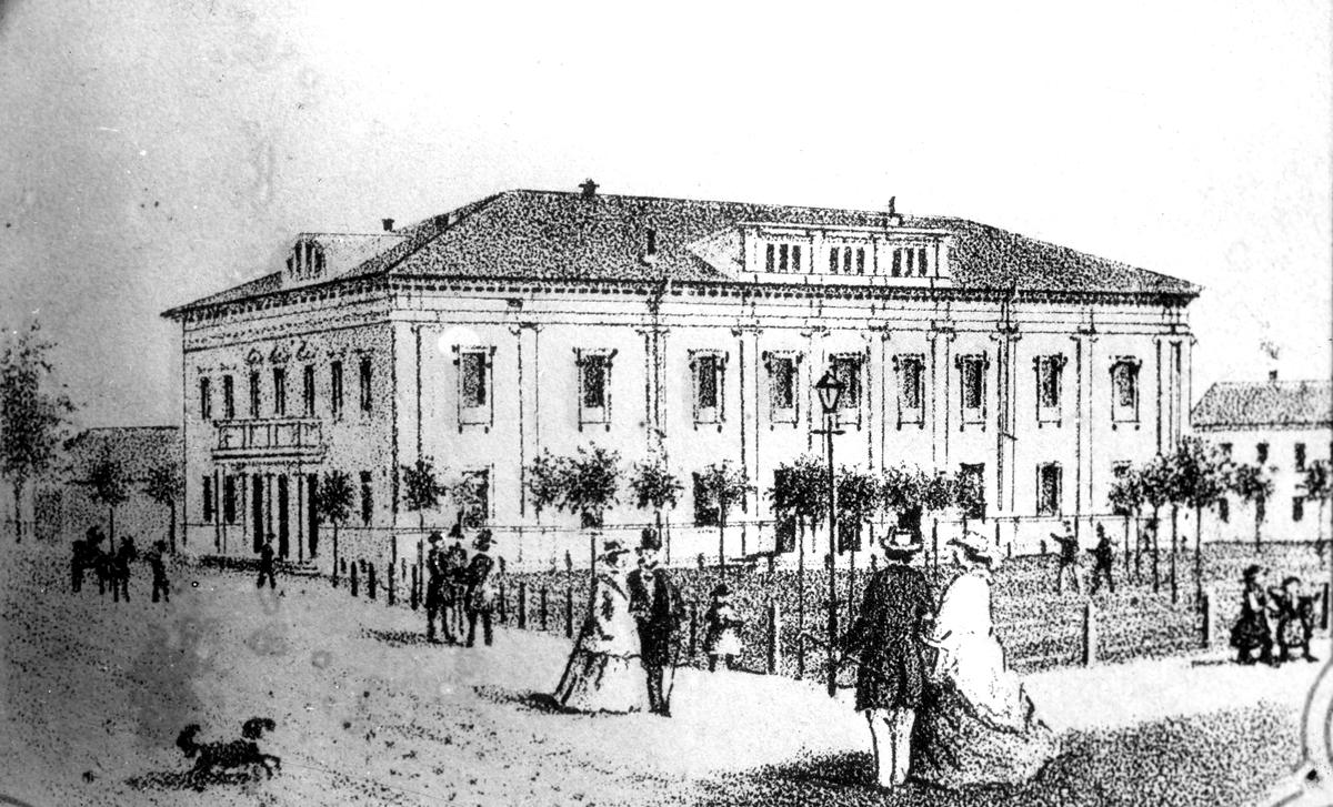Gävle Teater uppfördes 1876-1878 efter ritningar av Axel Fredrik Nyström, efter att Spektakelhuset förstörts i den stora stadsbranden 1869. Arkitektoniskt är byggnaden inspirerad av Parisoperan och är inte helt olik Kungliga Operan i Stockholm som skulle komma att invigas 20 år senare. Fasaden är prydd med byster av Shakespeare, Molière och Mozart. Under 1900-talet gjordes flera förändringar av teaterns interiör.