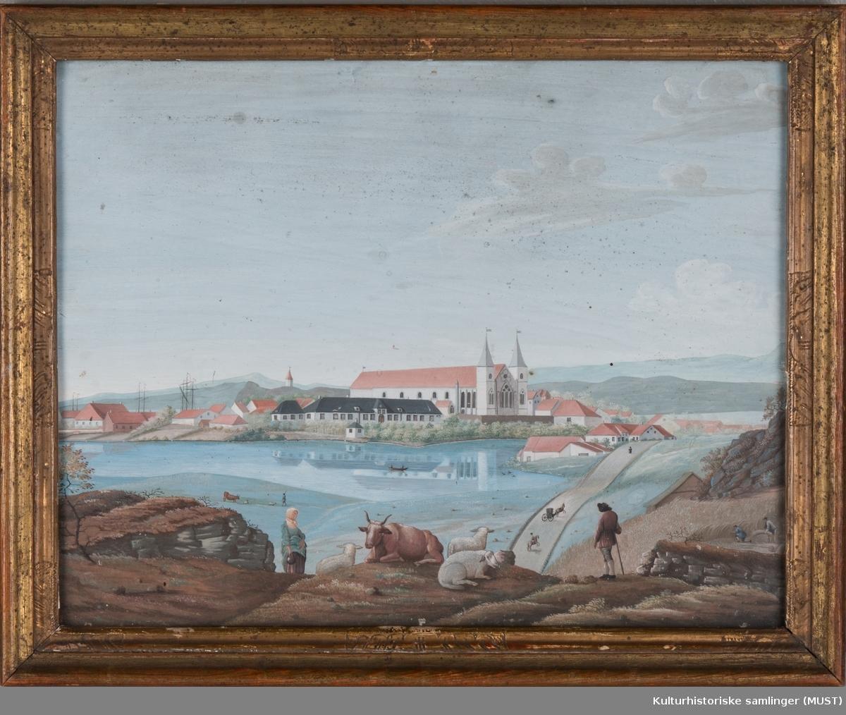 Breidavannet med Stavanger domkirke.