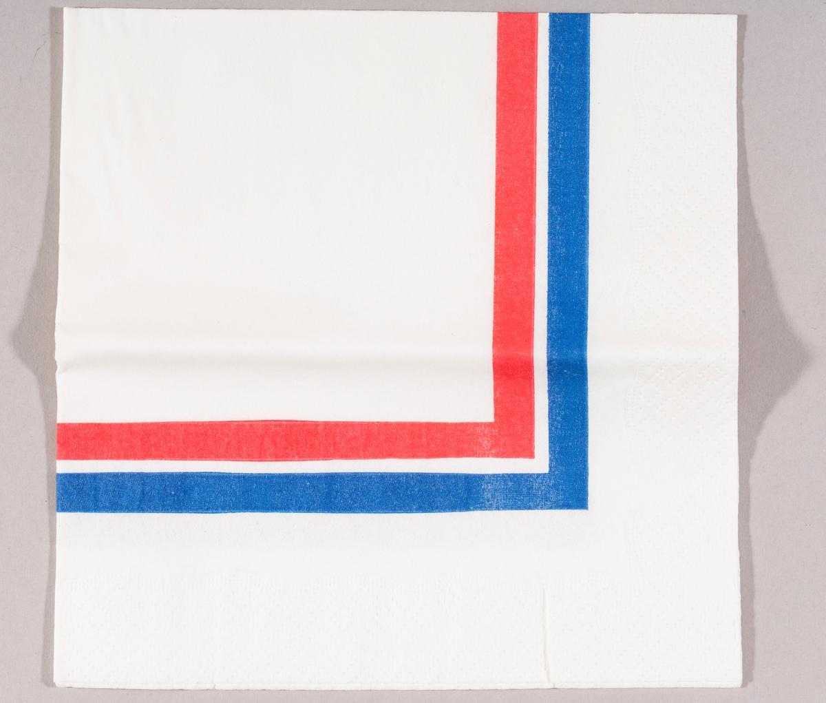 En stripe med fargene rød, hvit og blå