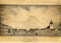 Wexiö 1848 - Stortorget [Litografi]
