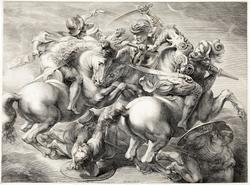 Slaget vid Anghiari [Kopparstick]