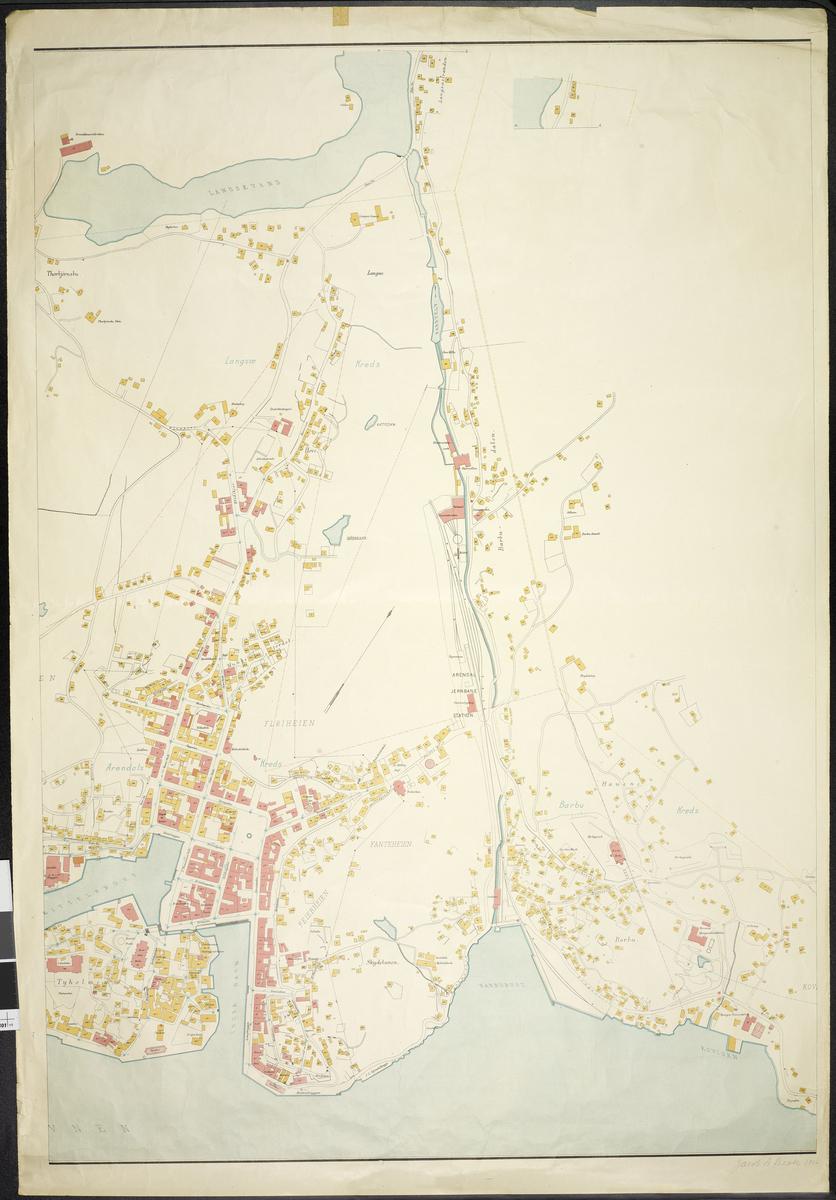 Kart over Arendal Bl.2