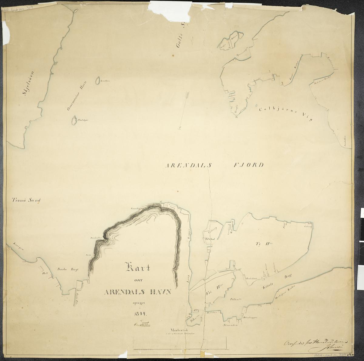 Kart over Arendals Havn