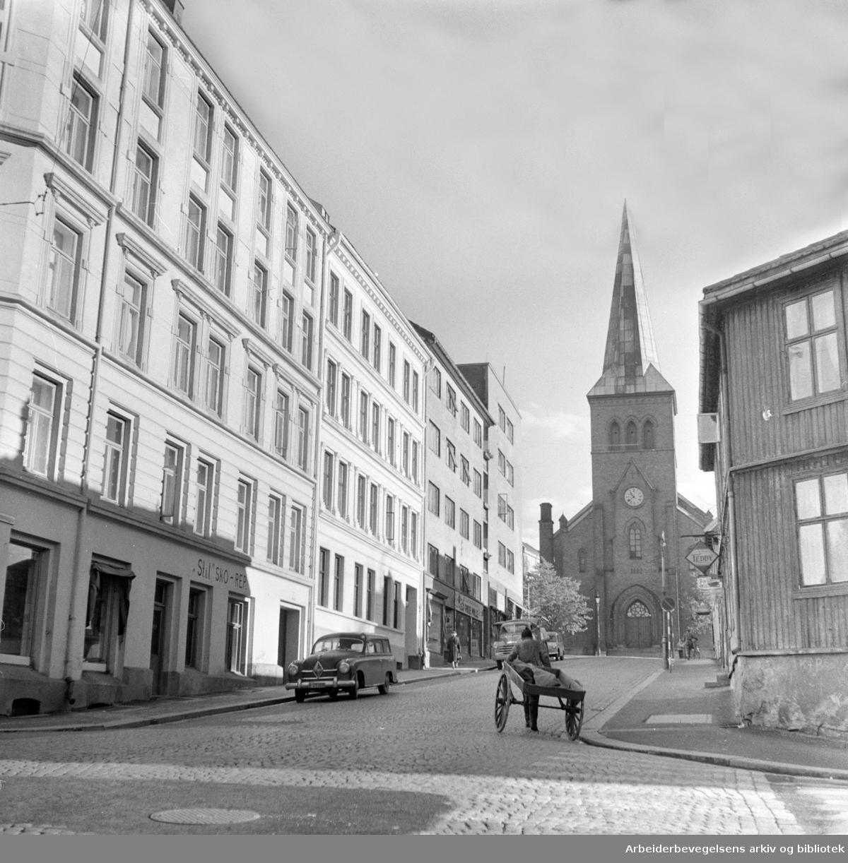 Nannestadgata på Kampen. November 1957