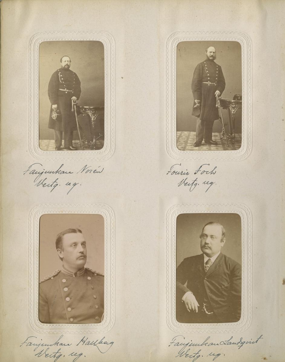 Porträtt av fanjunkare Landqvist vid Västgöta regemente I 6.