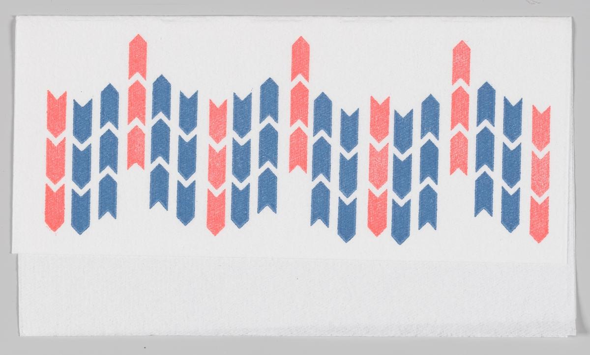 Logo med blå og røde piler som peker opp og ned.