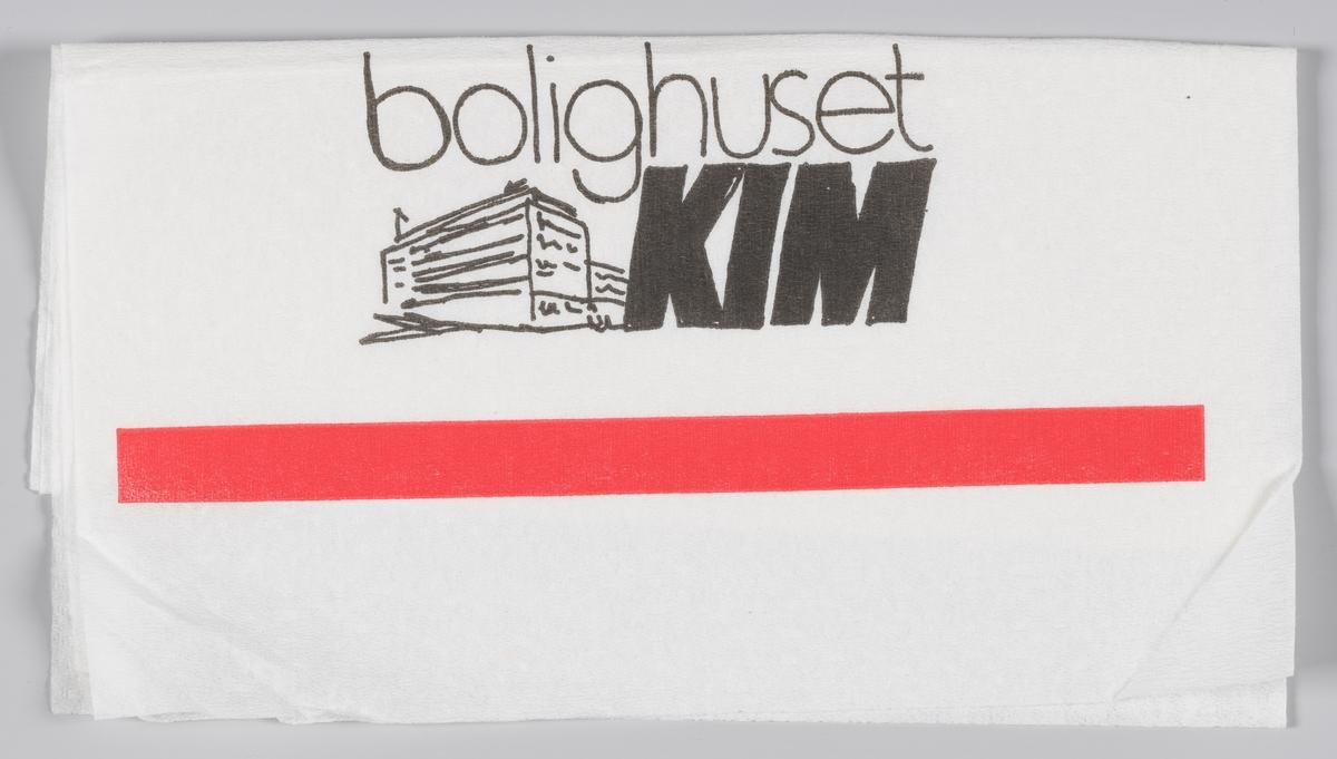 En reklametekst for Kafè Joakim og Bolighuset Kim.