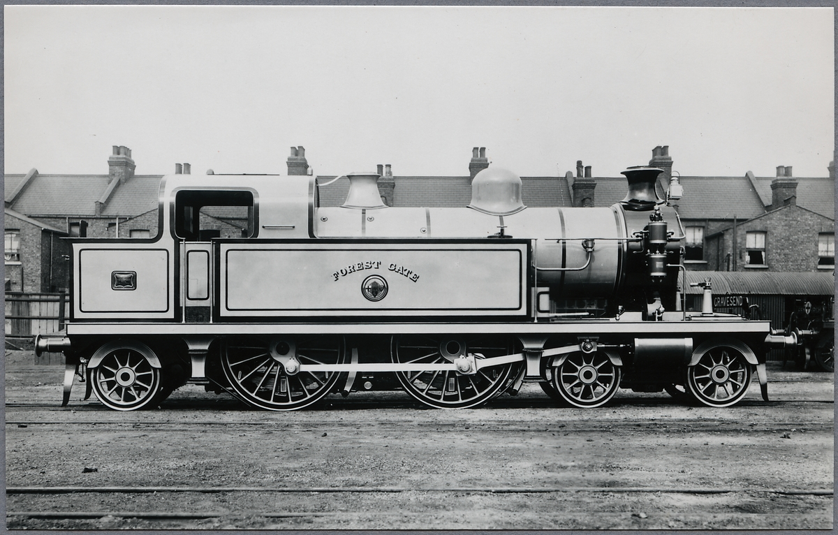 "London, Tilbury and Southend Railway, L.T.S.R. Lok 39 ""Forest Gate"". Byggt 1897, avställd 1951."