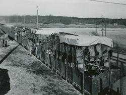 Järnvägstransport av 15,2 cm kustartilleribatteri m/37