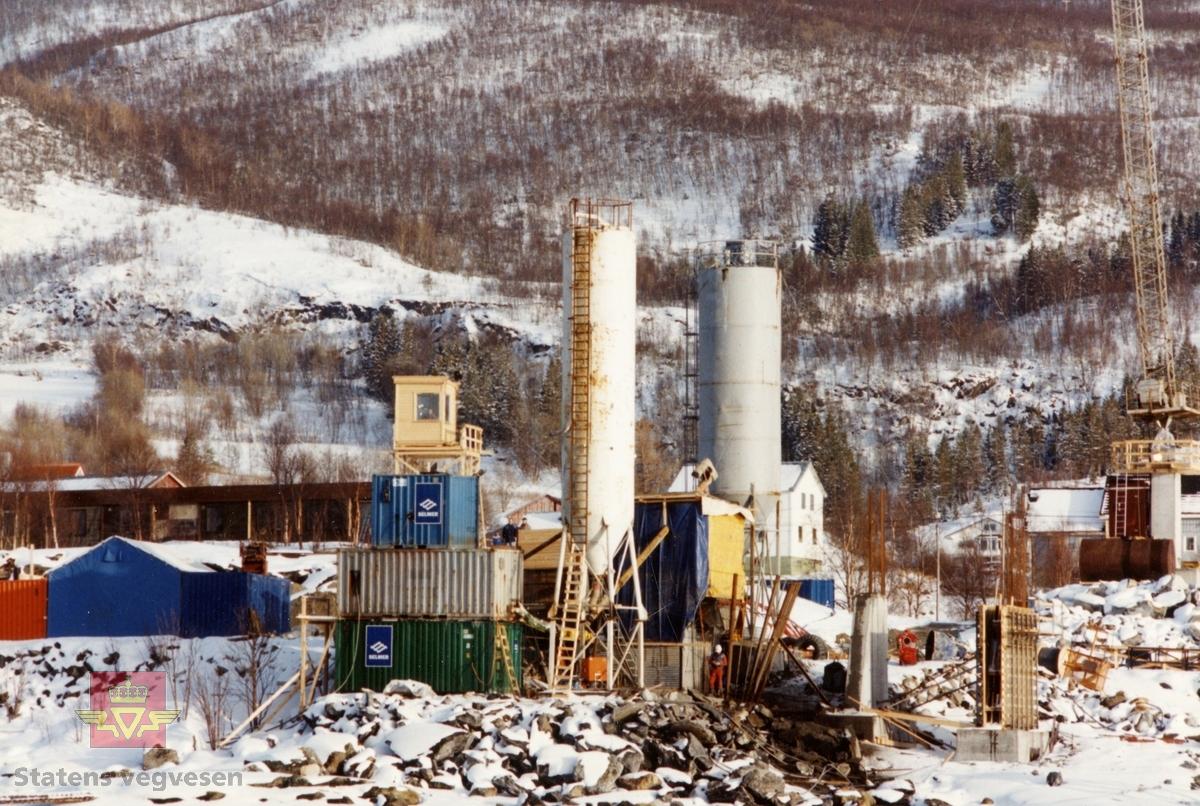 I arbeid med Støvset bru på begynnelsen av 1990-tallet.