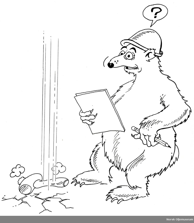 Situasjonsstudier fra arbeidslivet med en isbjørn.