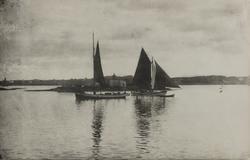 Parti fra Karmsundet sett mot vest, 1895.