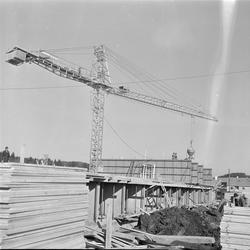 Byggearbeid ved Nyborg