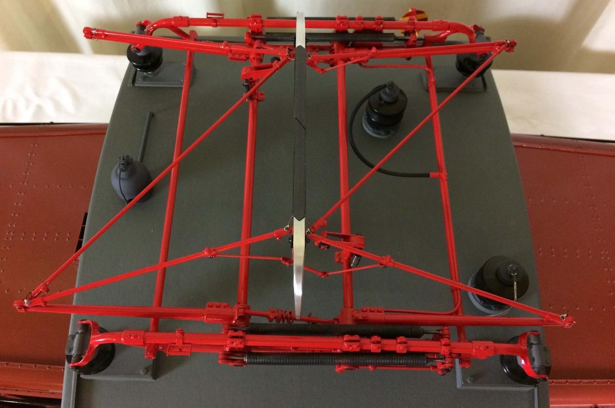 Modell av Ub lok i skala 1:10.