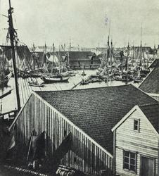 Smedasundet sett mot nordvest, ca. 1870.