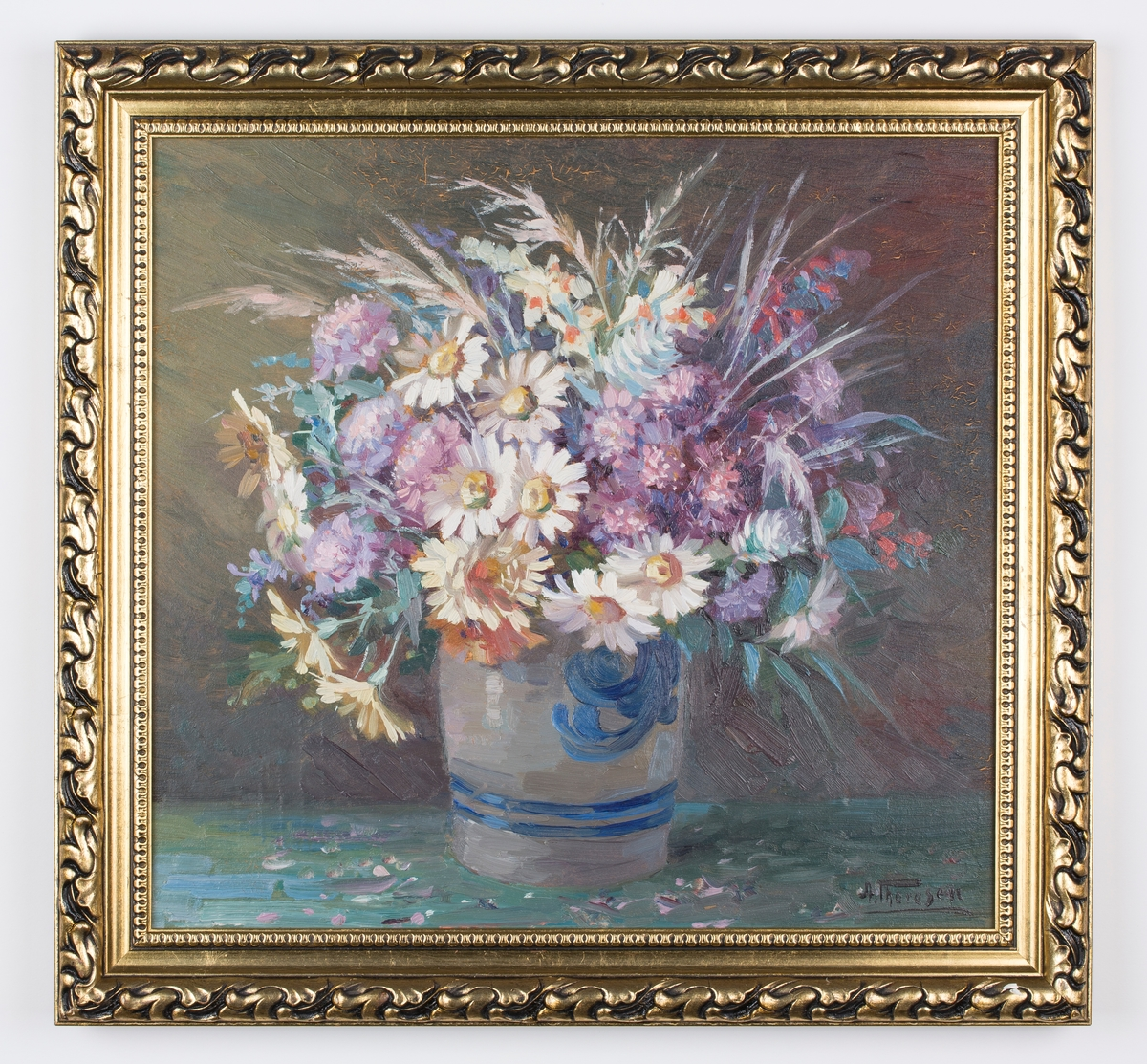 Blomterbukett i vase