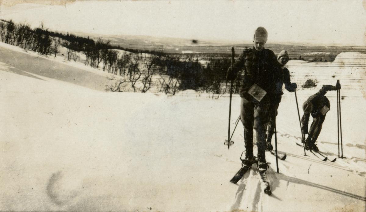 Soldater på skidor.