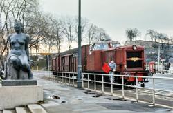 Diesellokomotiv Di 2 nr. 847 med godstog til Filipstad på Rå
