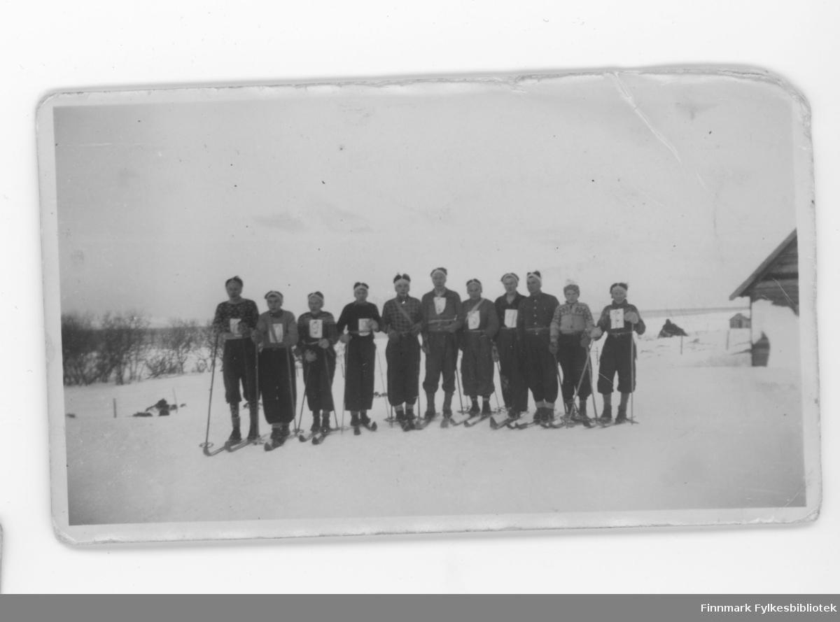 11 unge menn klar for ski-konkurranse i Børselv eller Nordvågen?