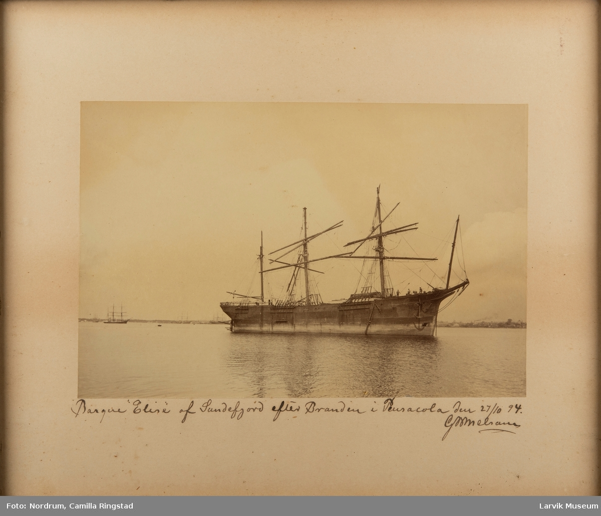 Bark ELISE av Sandefjord 1894