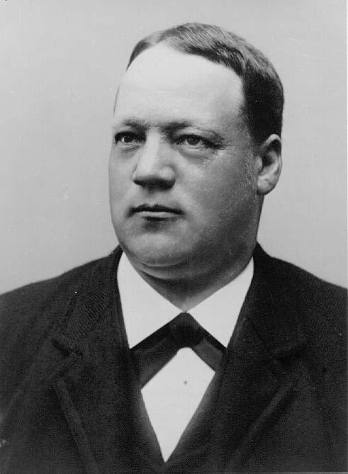 Porträtt av handlanden Knut Blomqvist.