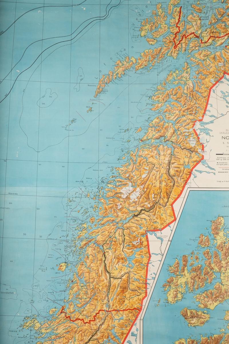 Skolekart. Nordland fylke.