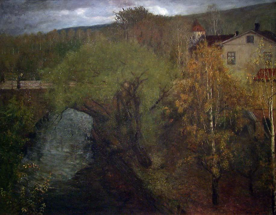 """Geitebrua"" over Loelven i Oslo [Maleri]"