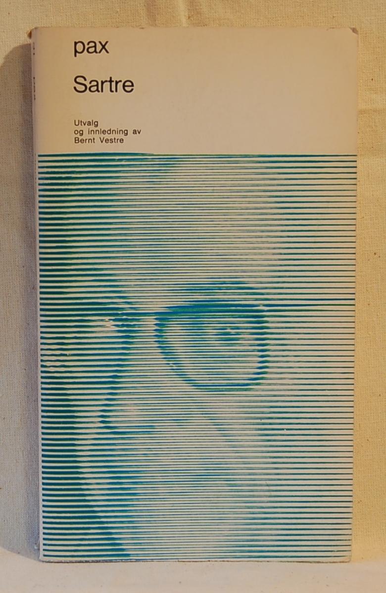 På bokens forside et portrett av Jean Paul Sartre