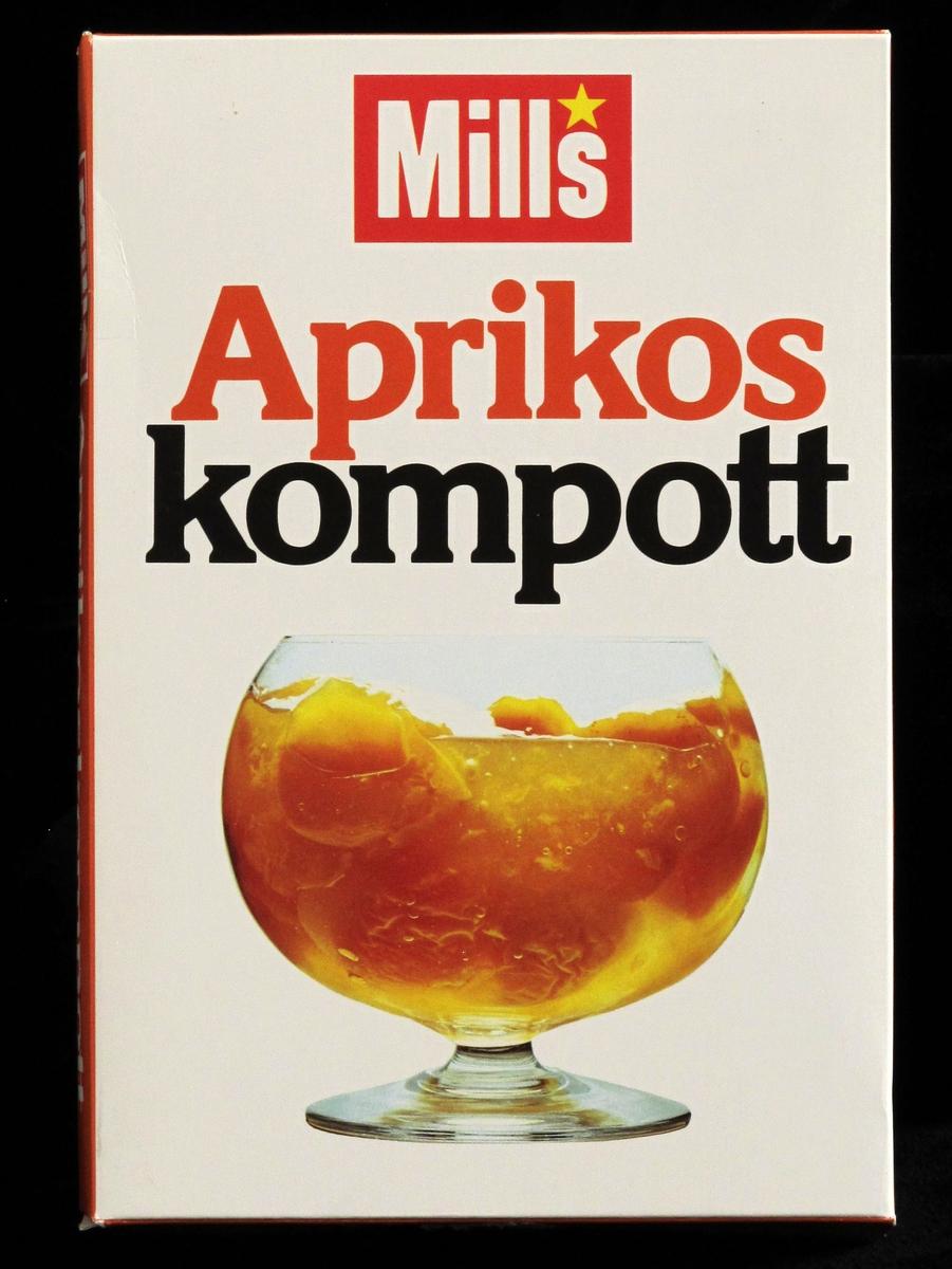 Stetteglass med aprikoskompott