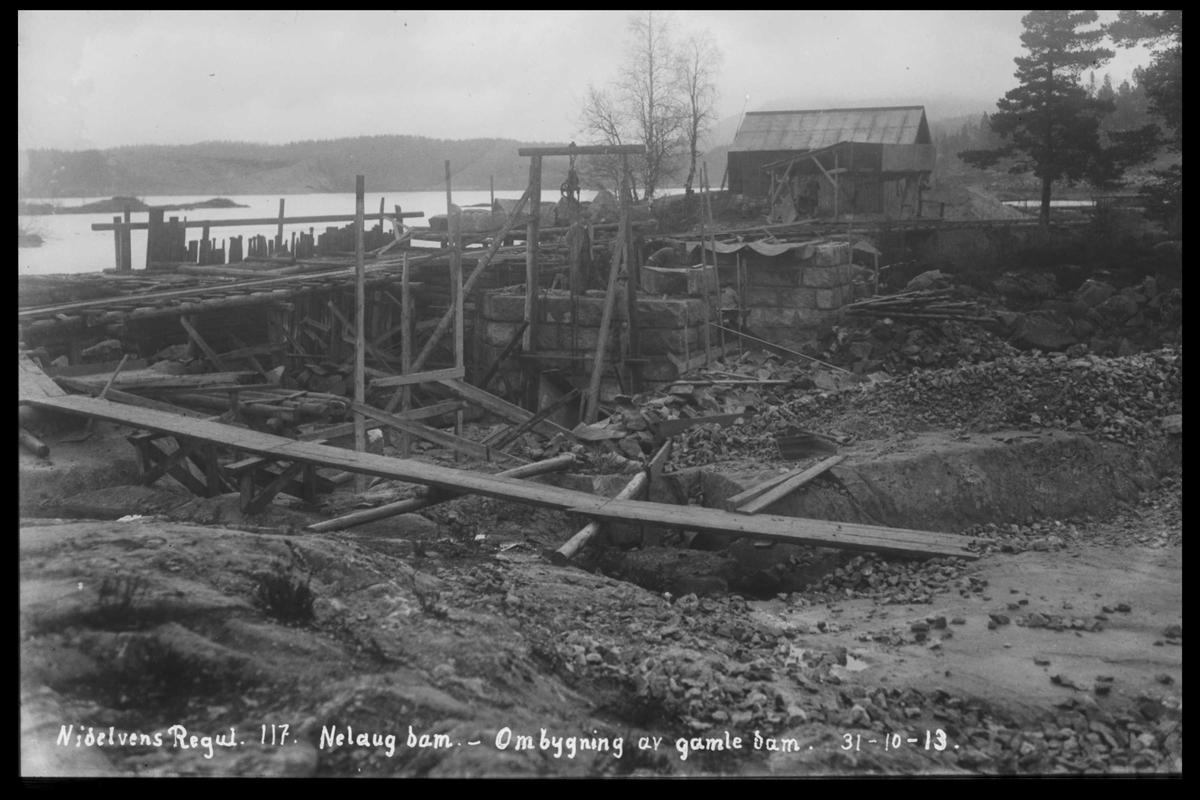 Arendal Fossekompani i begynnelsen av 1900-tallet CD merket 0474, Bilde: 24 Sted: Nelaug Beskrivelse: Ombygging