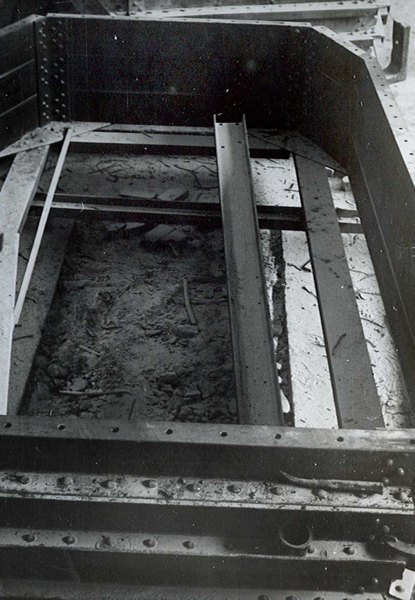 Nitriden. Jernkonstruksjon for smelteovn for aluminium.