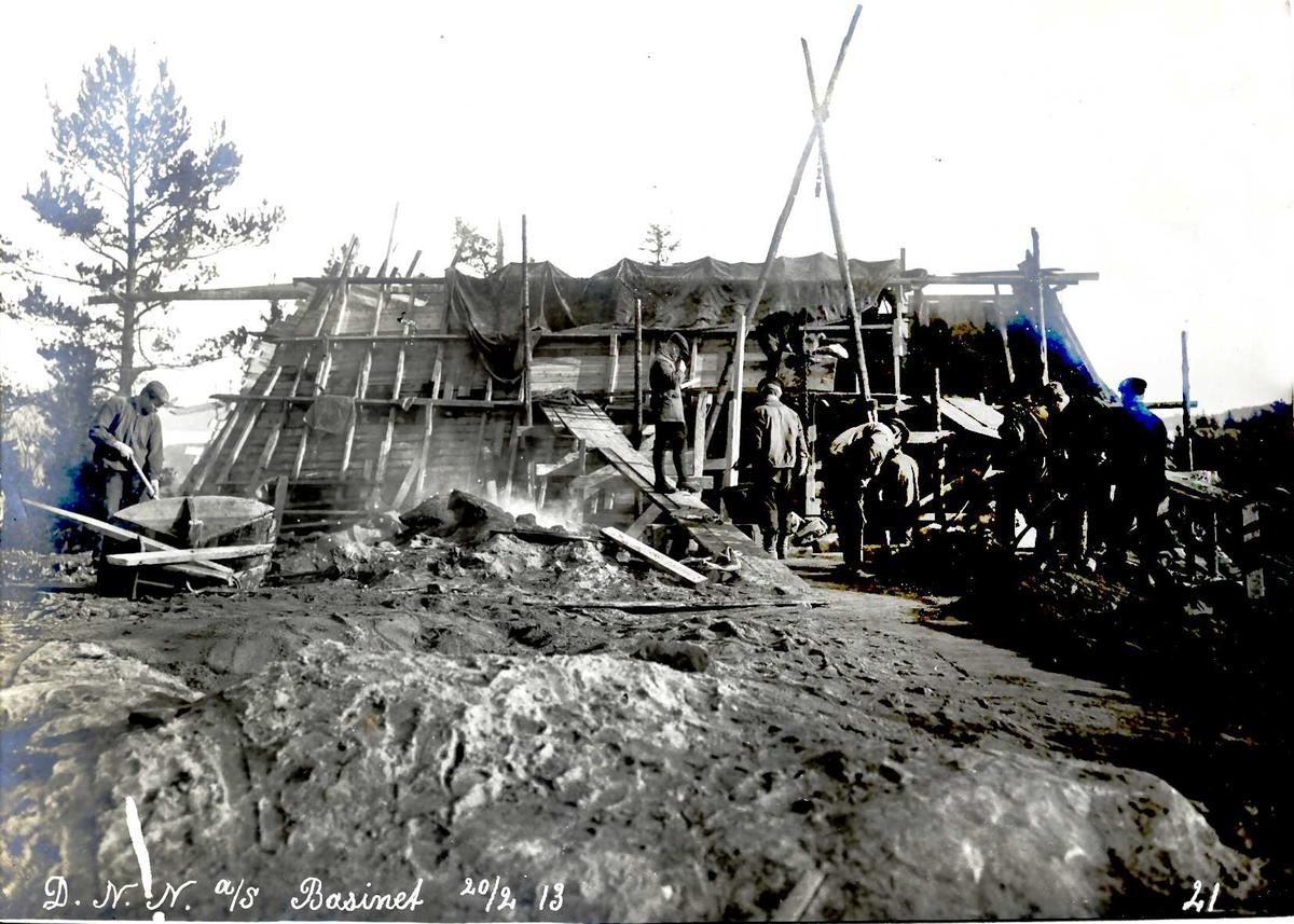 """""""20/02-1913"""" Nitriden. Bygging av høydebasseng."""