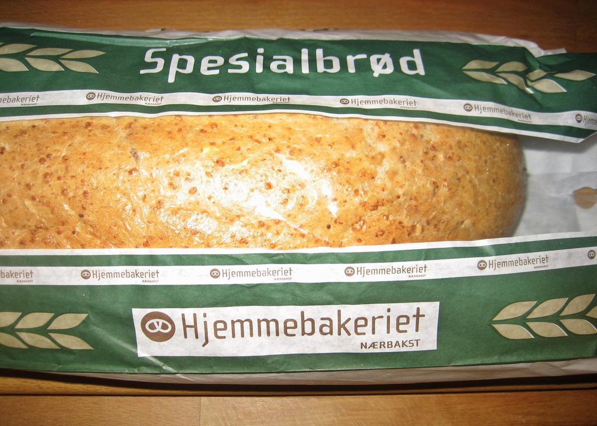 Brødposen har har kornaks som motiv