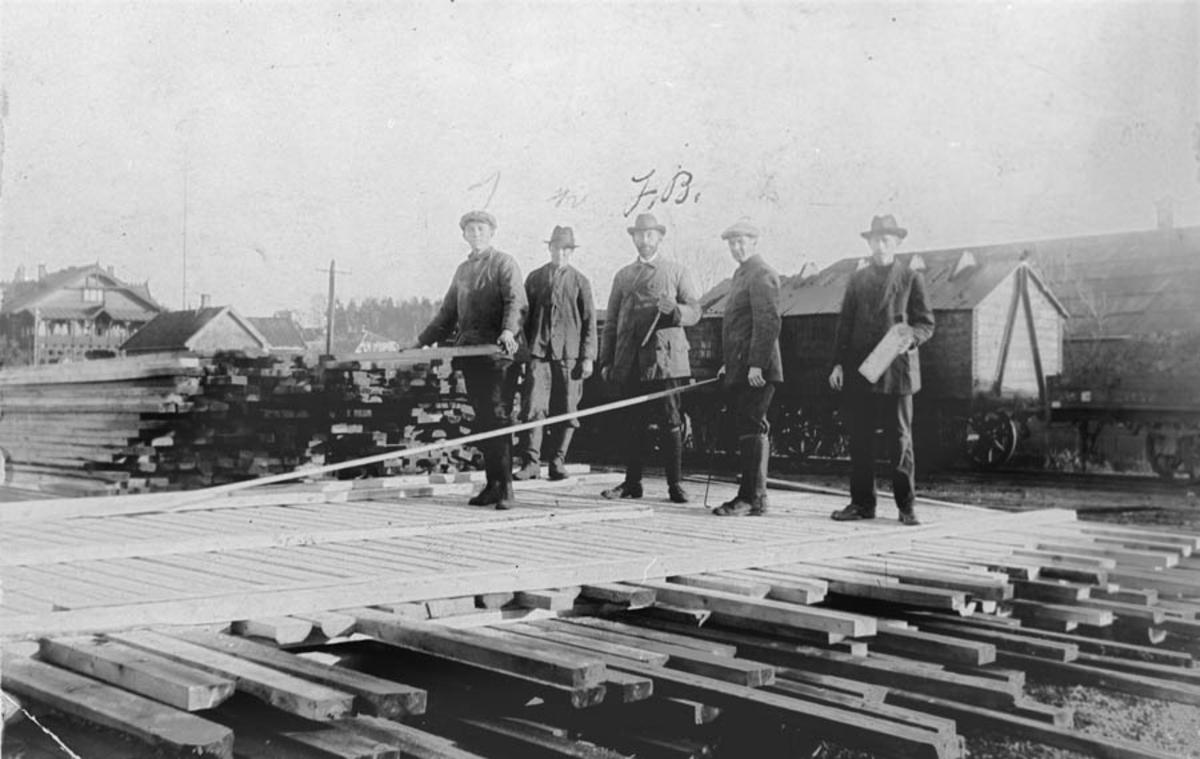 Plankesortererne for firmaet Bernt Paalsen Comp.
