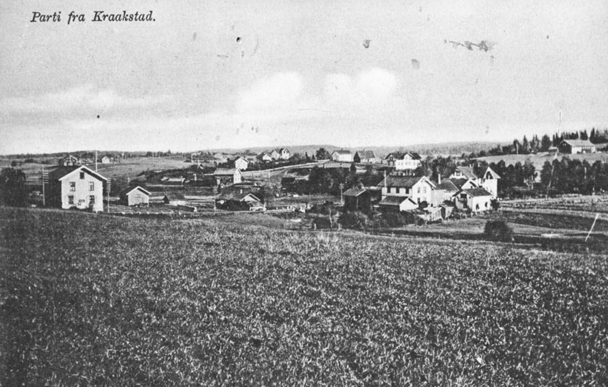Parti fra Kråkstad, mot stasjonen