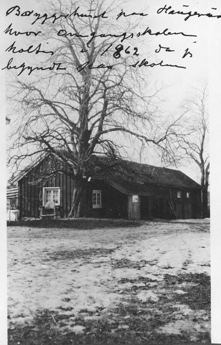Bryggerhuset på Haugerud, hvor omgangsskolen holdt til.
