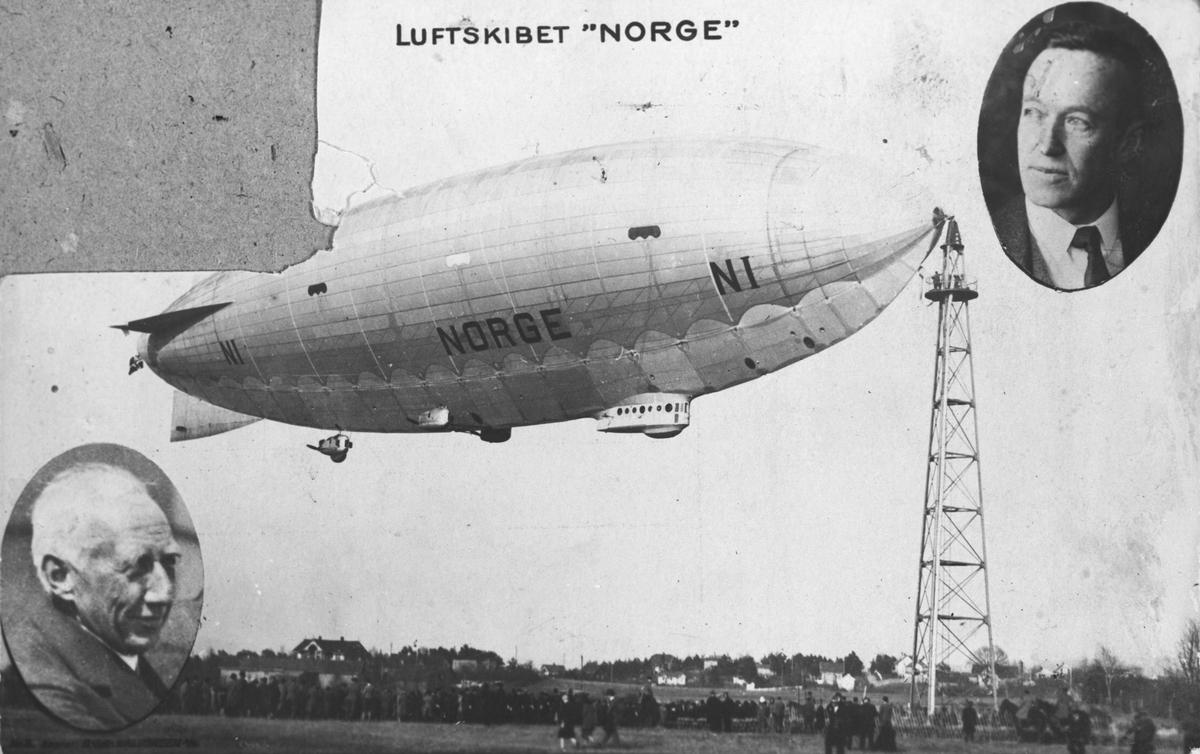 """Luftskibet """"Norge""""."""