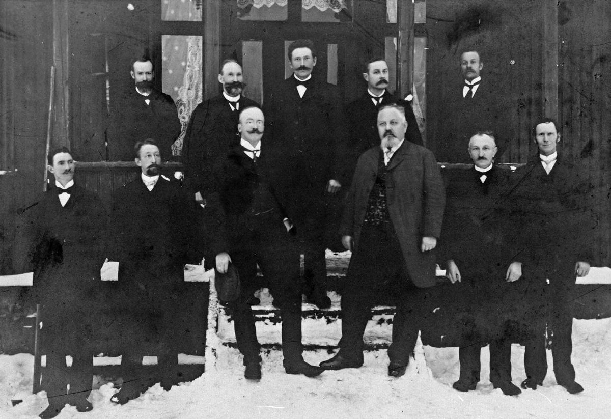 Herredstyret i Lørenskog samlet.