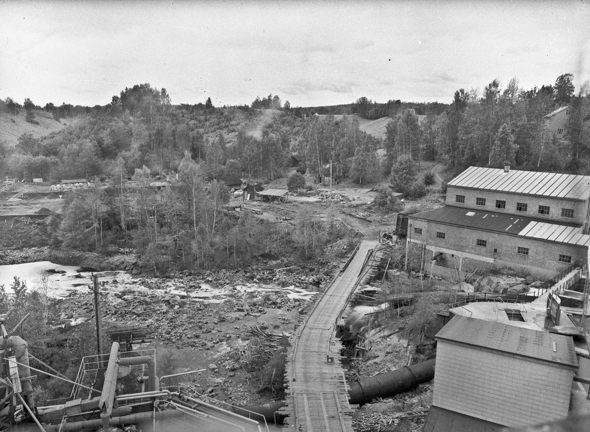 Mathiesen Eidsvoll Verk. Bygging av dam i Bønsdalen.
